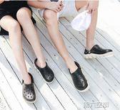 洞洞鞋 男士防滑洞洞鞋拖鞋沙灘鞋透氣女半包頭拖鞋情侶大碼涼鞋子 第六空間