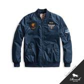 【Roush】 MA-1立體貼布鋪棉飛行外套 -【815889】