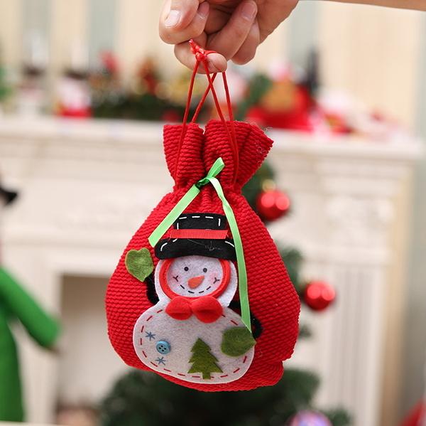 小號立體聖誕雪人糖果袋禮品袋創意家居實用禮品 聖誕節日禮物袋─預購CH2541