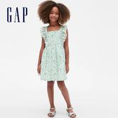 Gap女童 甜美荷葉邊無袖洋裝 540158-淡水藍色