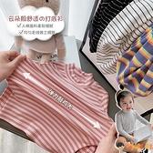 女童長袖t恤秋裝女寶寶條紋打底衫兒童上衣潮【淘嘟嘟】