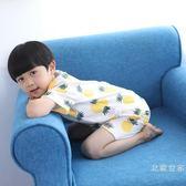 韓國童裝兒童睡衣夏季薄款男女童短袖寶寶空調家居服純棉男孩套裝限時大優惠!
