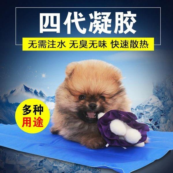 狗狗冰墊寵物狗墊子坐墊金毛泰迪狗狗涼席耐咬凝膠冰墊夏季通用