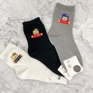 韓國襪子 英文字卡通襪 長襪 女襪 休閒襪