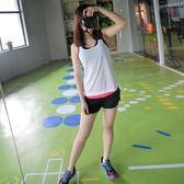 運動背心-可愛簡約素面設計女健身上衣3色73eu8[時尚巴黎]