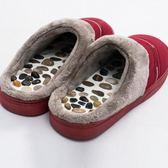 冬季鵝卵石按摩拖鞋家居按摩鞋男女拖鞋家用足底穴位足療鞋防滑鞋 森活雜貨
