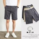 夏季男士休閒短褲男寬鬆純棉薄款中褲外穿加大碼灰色五分褲男 快速出貨