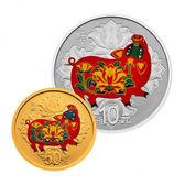 【台灣大洋金幣】2019中國己亥豬年彩色3克金+30克銀紀念幣套裝