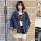 牛仔外套女2019春秋裝新款寬鬆學生韓版bf原宿風外套牛仔衣潮 韓語空間