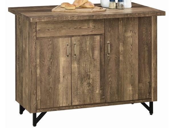 櫥櫃 餐櫃 AM-206-3 班克工業風4尺中島收納櫃【大眾家居舘】