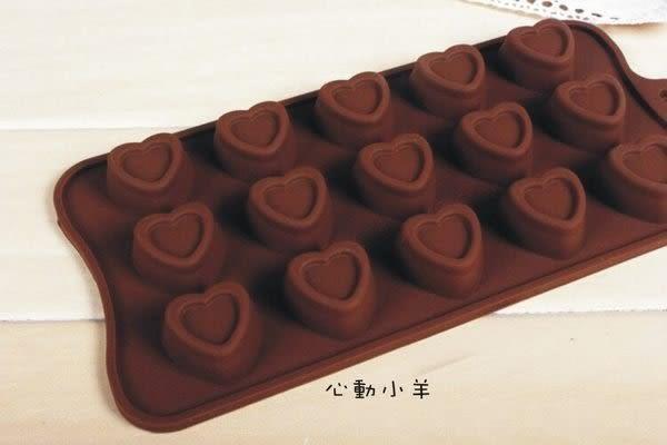 心動小羊^^耐高溫愛心矽膠巧克力模 皂蠟燭果凍布丁模製冰格、翻糖、香磚、迷你皂模