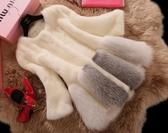店長推薦 2018冬季新款韓版狐貍毛仿皮草外套女水貂修身大衣中長款皮草