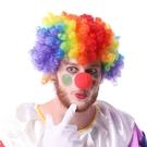 七彩 彩色 爆炸頭 小丑假髮(附鼻子) 小丑配飾 海綿小丑鼻子 萬聖節 派對 角色扮演/變裝【塔克】