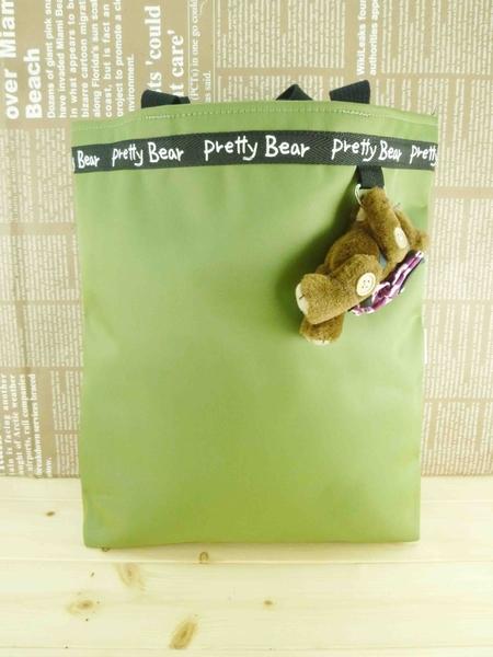 【震撼精品百貨】泰迪熊_Pretty Bear~提袋附熊玩偶-『綠色』(L)