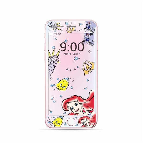 【SZ93】卡通全屏彩膜鋼化膜 iPhone XS MAX鋼化膜 iPhone XR鋼化膜 iPhone7/8 plus鋼化膜 iPhone7/8鋼化膜