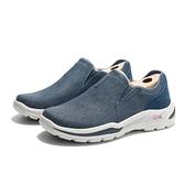 SKECHERS 休閒鞋 ARCHFIT 藍 牛仔布 工作鞋 男 (布魯克林) 204183NVY