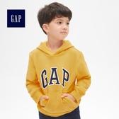 Gap男童 徽標刷毛連帽長袖休閒上衣  869631-明黃色