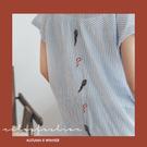 棉麻衫 彩色鸚鵡直條棉麻襯衫 單色-小C館日系