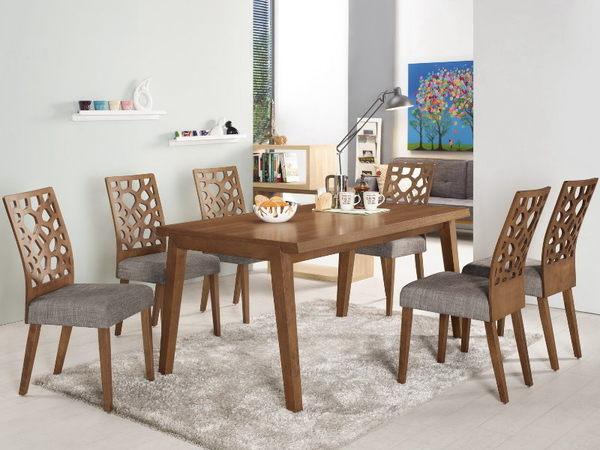 餐桌 MK-431-1 亞伯5尺胡桃餐桌 (不含椅子)【大眾家居舘】