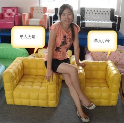 兒童沙發幼稚園小沙發組合單人雙人寶寶面包皮(單人-大號)-炫彩腳丫折扣店
