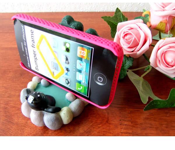 日本雜貨 concombre 泡溫泉的黑貓 手機座/擺飾 療癒 該該貝比日本精品 ☆