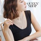 Queen Shop【07040302】霧面圓形間格小珠短鍊*現+預*