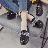 小皮鞋女鞋子新款低跟單鞋女秋季社會韓版百搭 韓慕精品