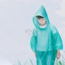 快速出貨兒童一次性雨衣時尚便攜幼兒園學生女童男童小學生加厚雨披套