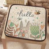 坐墊兔子新款可愛學生椅墊四季汽車防滑坐墊辦公室萌兔椅子墊薄款 DF