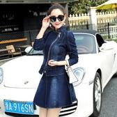 【伊人閣】牛仔套裝女春裝秋裝套裙韓版顯瘦女裝外套