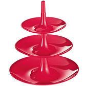 《KOZIOL》3層式點心盤(紅XS)