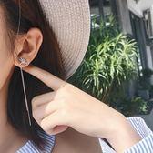 流蘇耳環女耳墜耳線個性耳鏈無耳洞耳夾