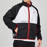 Nike Air Jordan 男子 黑紅白 喬丹 刷毛 保暖 立領 排汗 運動 外套 CU1495-010