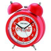 【台南 時代鐘錶 SEIKO】精工 可口可樂聯名款鬧鐘 鬧鐘 QHK905R 響鈴聲 靜音 貪睡