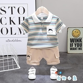 男童短袖套裝夏裝寶寶兩件套時尚休閒【奇趣小屋】