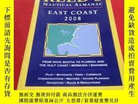 二手書博民逛書店REED S罕見NAUTICAL ALMANAC EAST COAST 2008(裏德航海年鑒東海岸2008)
