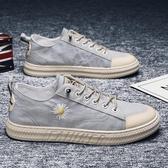 男鞋春季2020新款韓版休閑布鞋透氣夏季男士平板鞋帆布青少年潮鞋