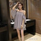 洋裝 2020夏季新款直播衣服裝女主播一字肩抹胸裙子夜店女裝性感洋裝
