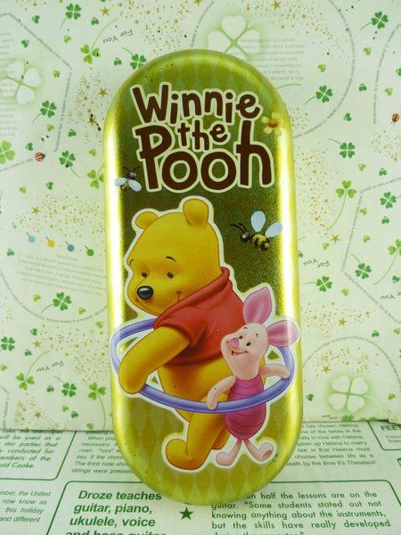 【震撼精品百貨】Winnie the Pooh 小熊維尼~眼鏡盒-黃呼拉圈