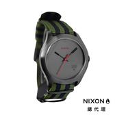 NIXON QUAD 帆布錶帶 軍綠黑條紋 潮人裝備 潮人態度 禮物首選