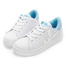 經典俐落的白色系鞋款 品牌兔頭營造個性帥氣感 舒適鞋墊讓步伐輕盈好走
