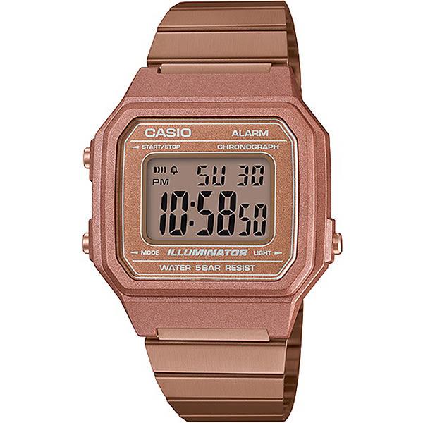 【台南 時代鐘錶 CASIO】卡西歐 宏崑公司貨 B650WC-5A 復古文青風大型數字顯示錶款