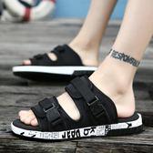 夏季越南沙灘男式涼鞋 魔術貼休閒拖鞋《印象精品》q178