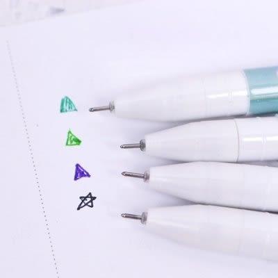 【發現。好貨】韓國中性筆原子筆 花朵點點條紋愛心 PVC盒裝 0.38中性筆 十入裝 多色筆