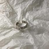 戒指阿柴J47 S925純銀戒指復古羅馬數字INS風星期女戒指開口指環學生 春季新品