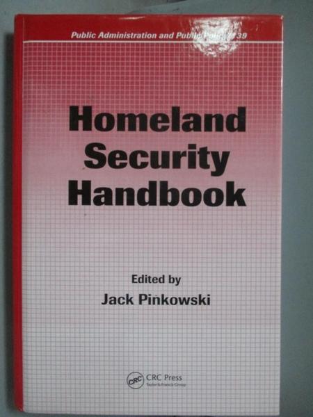 【書寶二手書T8/大學社科_J3W】Homeland Security Handbook_Pinkowski, Jack