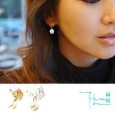 【Hera 赫拉】玫瑰珍珠耳夾款-2色