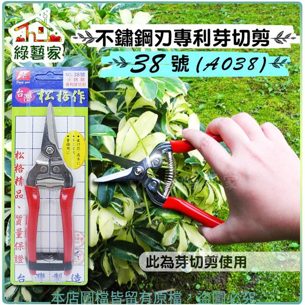 【綠藝家】不鏽鋼刃專利芽切剪38號(SG38)