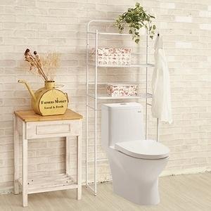 MIT工業風馬桶架 浴室置物架 兩色可選白色