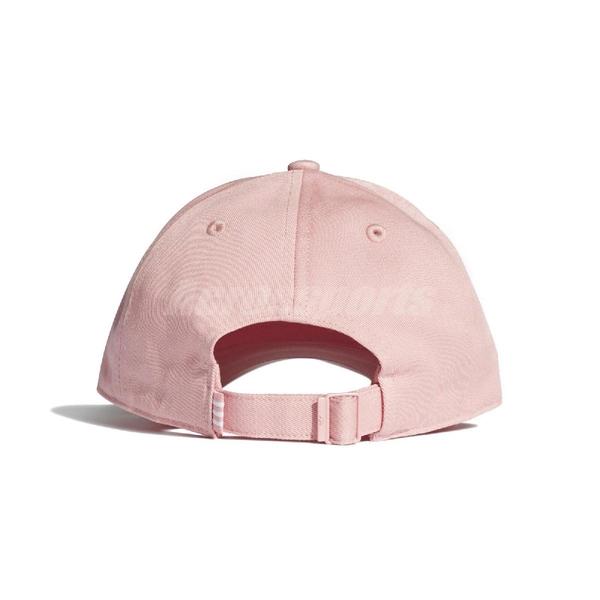 adidas 帽子 Trefoil Baseball Cap 粉 白 男女款 老帽 三葉草 棒球帽 【ACS】 EK2994